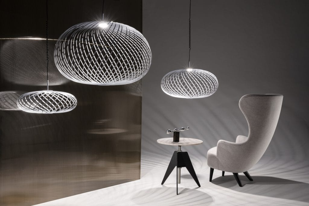 Spring ceiling pendant by Tom Dixon