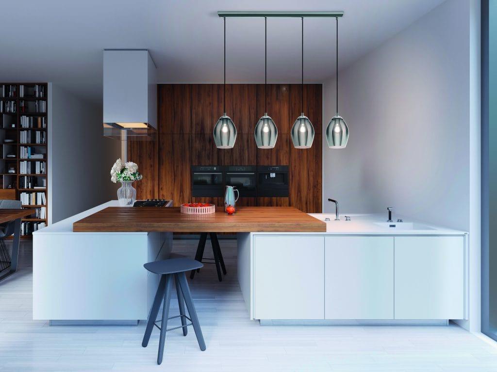 Ceiling pendant bar for kitchens