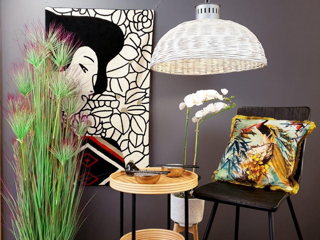rattan and bamboo lighting