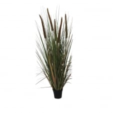 faux bulrush plant