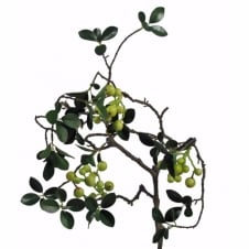 EVERGREEN WINTER BERRY decorative faux plant