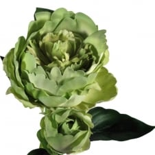 faux green peony decoration