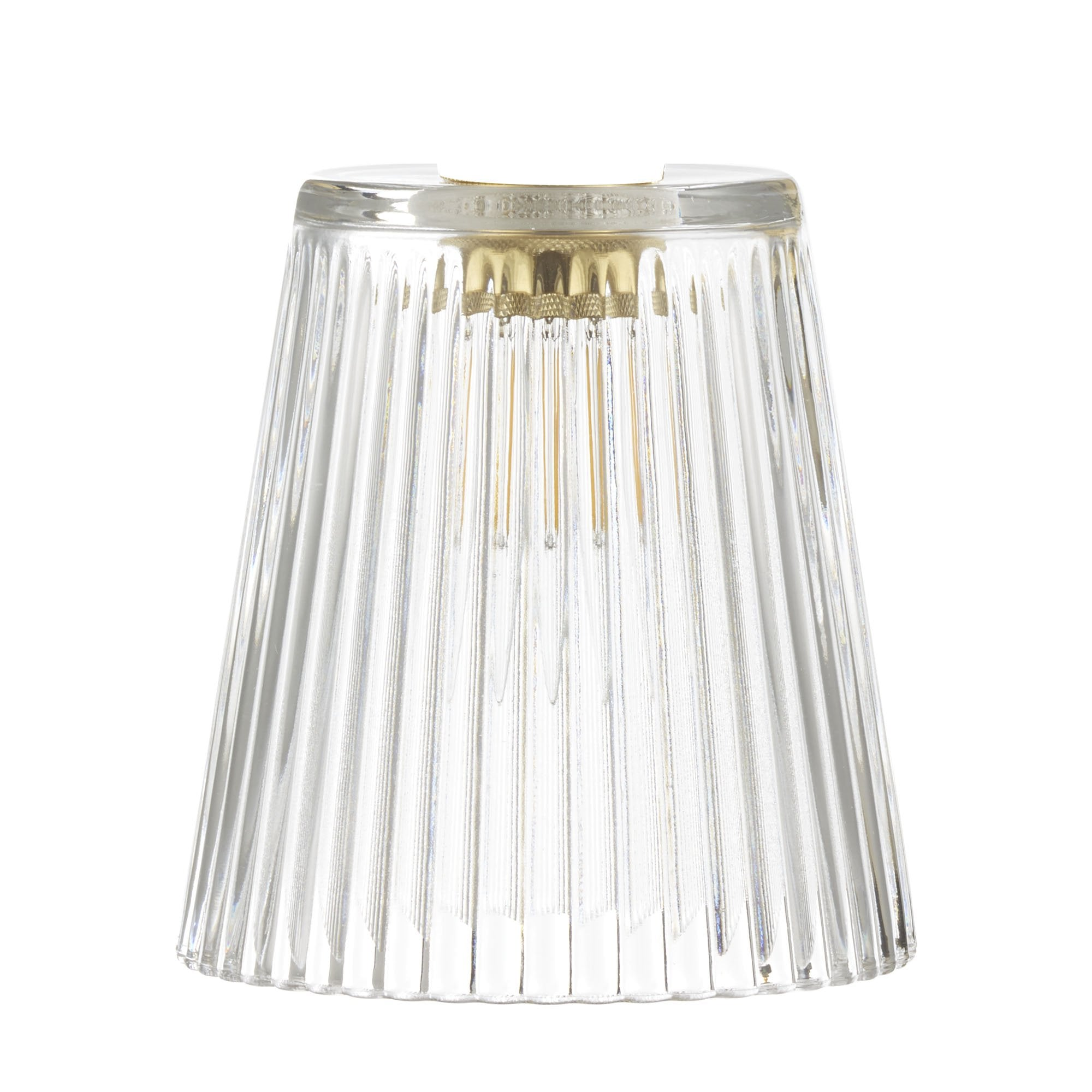 Accessory Clear Ribbed Glass Shade Lighting Company Uk