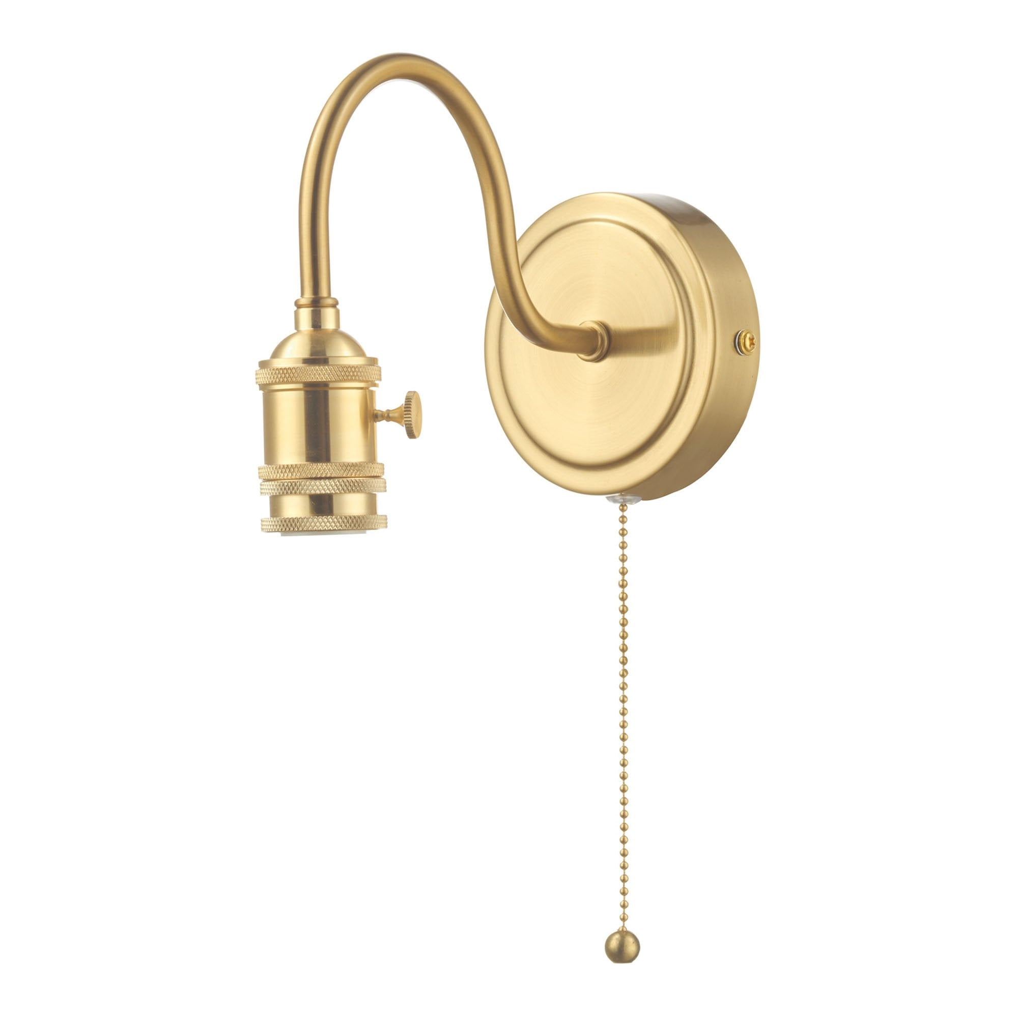 Single Wall Light Brass Bracket Pull Cord Switch Lighting Company Uk