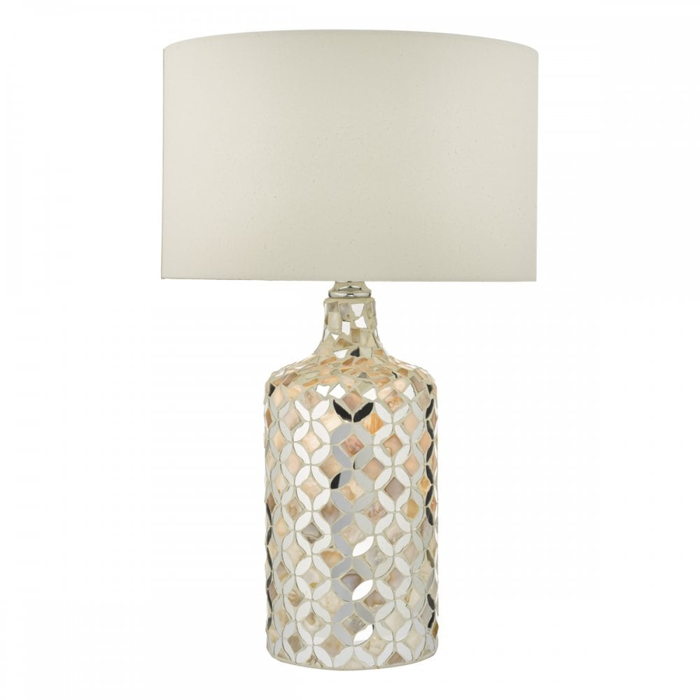 Table Acquila Toxpkziu Cream And Lamp With Mirror Shade dxBoeWCrQ