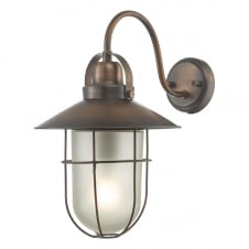 nautical style outdoor wall lantern in copper