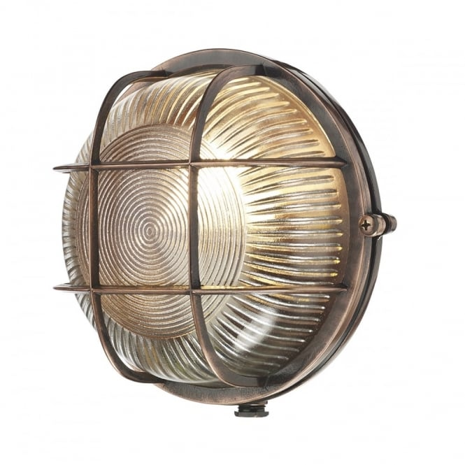 Coastal style industrial exterior bulkhead light in antique copper mozeypictures Gallery