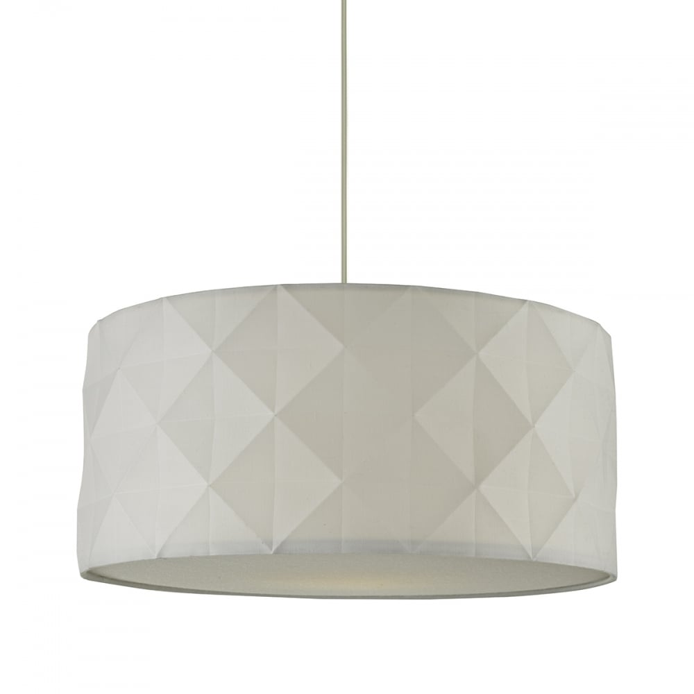Contemporary Faceted Cotton Easy Fit Pendant Shade