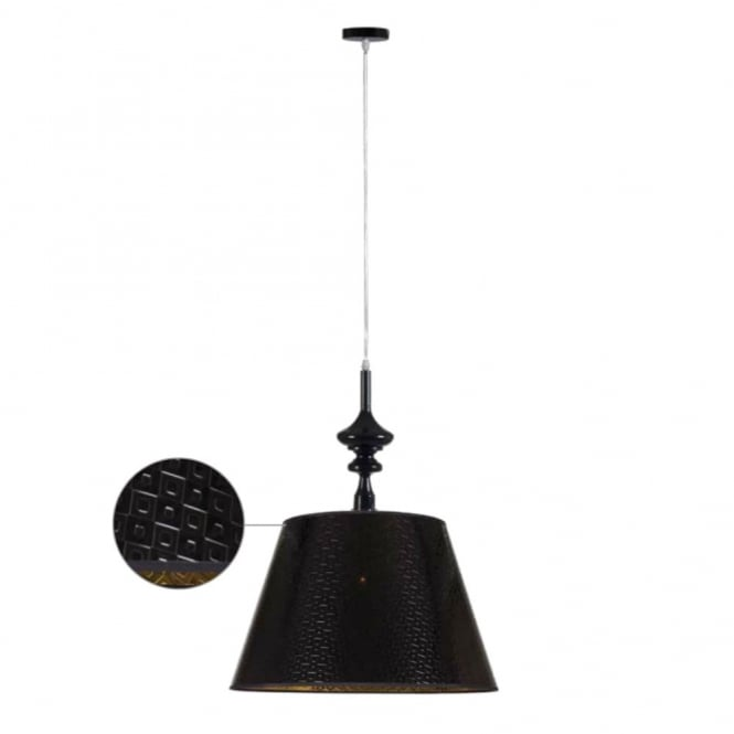 ALADDIN contemporary ceiling pendant (black)