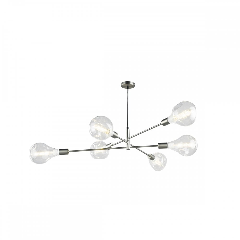 sneakers for cheap 75eed fde69 ALANA sputnik 6 light pendant in a satin chrome finish