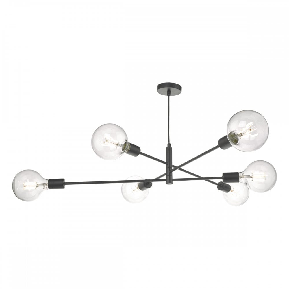 low priced 58a42 64d8e ALANA sputnik 6 light pendant in black finish