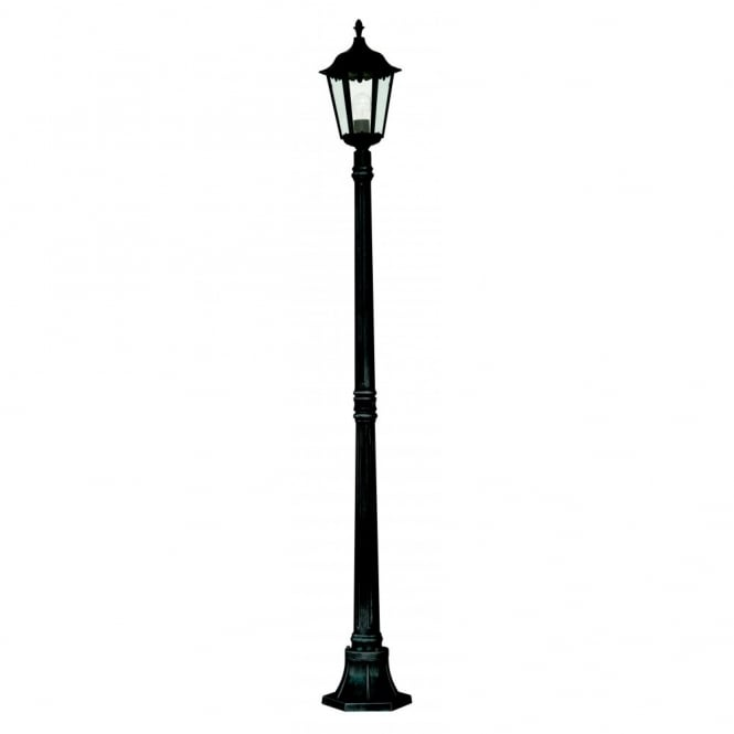 Alex black aluminium garden lamp post light alex black aluminium garden lamp post light ip44 aloadofball Image collections