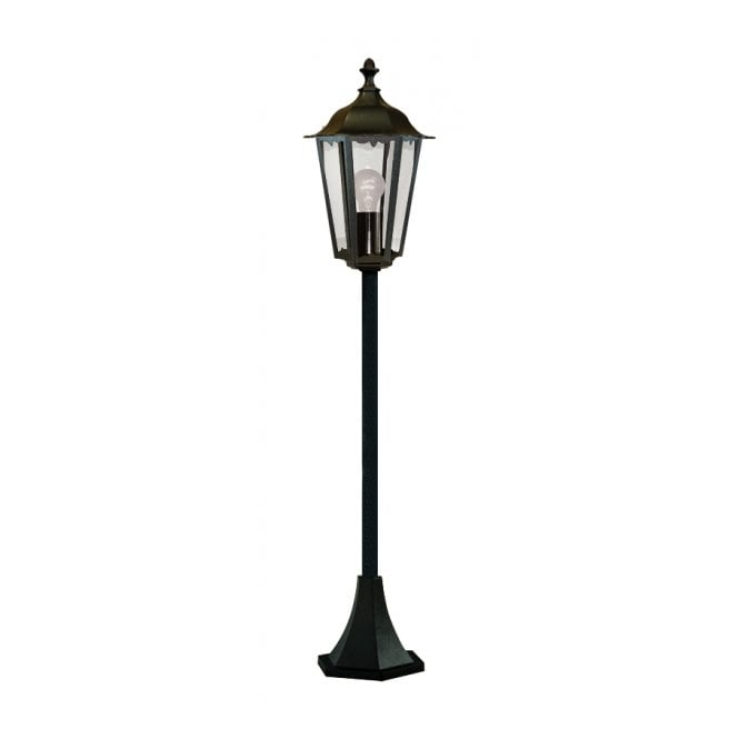 Small garden lamp post light traditional black aluminium ip44 outdoor alex black aluminium garden lamp post light aloadofball Image collections