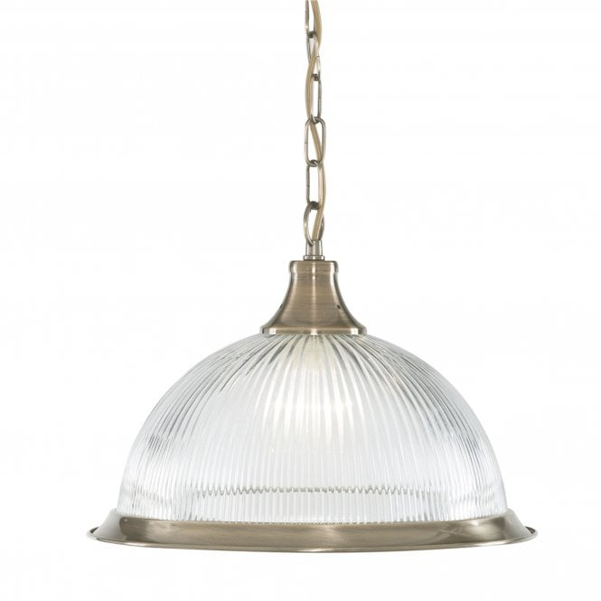 AMERICAN DINER antique brass ceiling pendant light