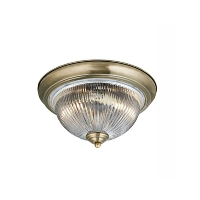 American diner flush bathroom antique brass glass ceiling light