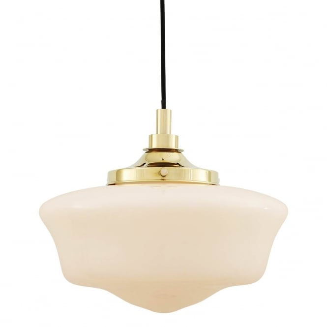 ANATH schoolhouse style bathroom ceiling pendant in polished brass