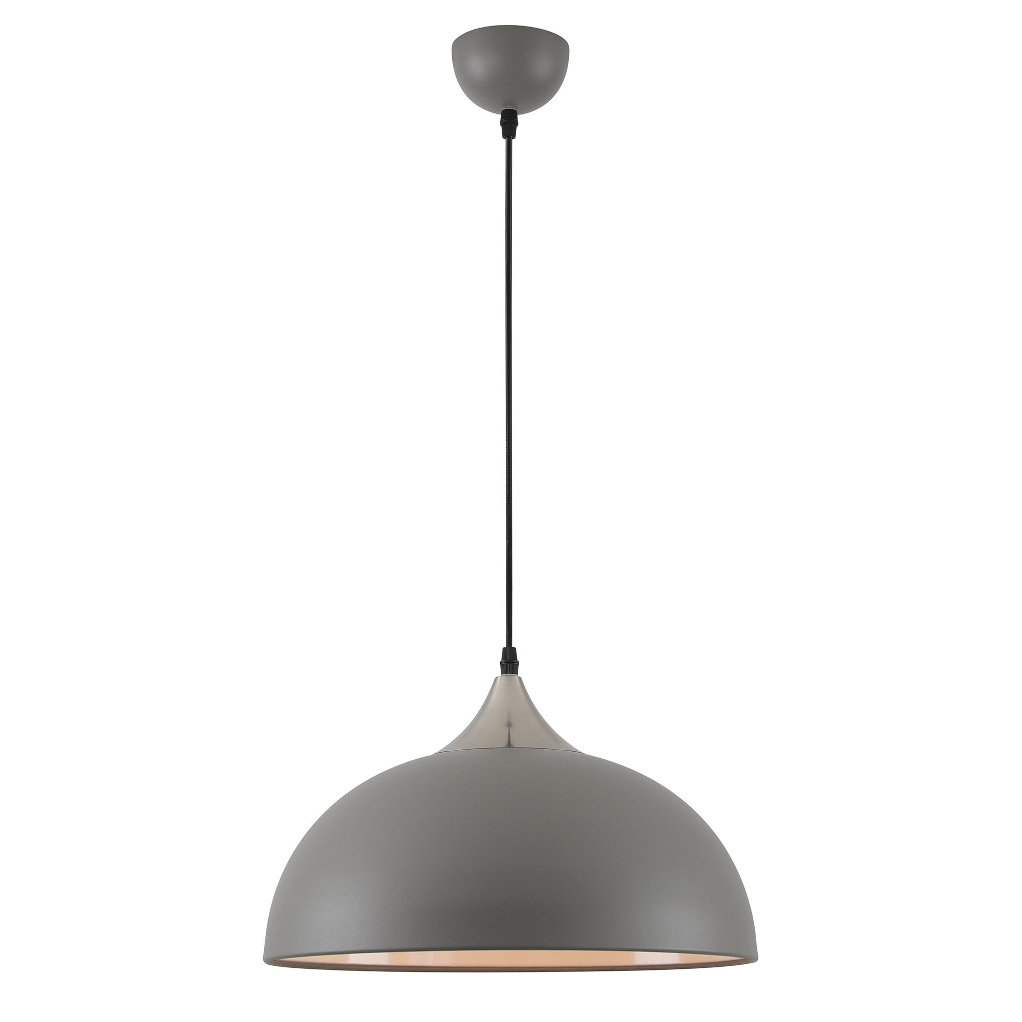 1 Light Ceiling Pendant Sand Grey Satin Nickel