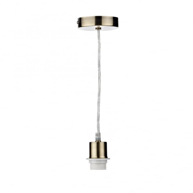 Antique brass ceiling pendant suspension set with ckear cable antique brass pendant suspension with clear cable aloadofball Choice Image