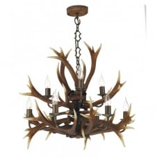 ANTLER tiered ceiling pendant 9lt