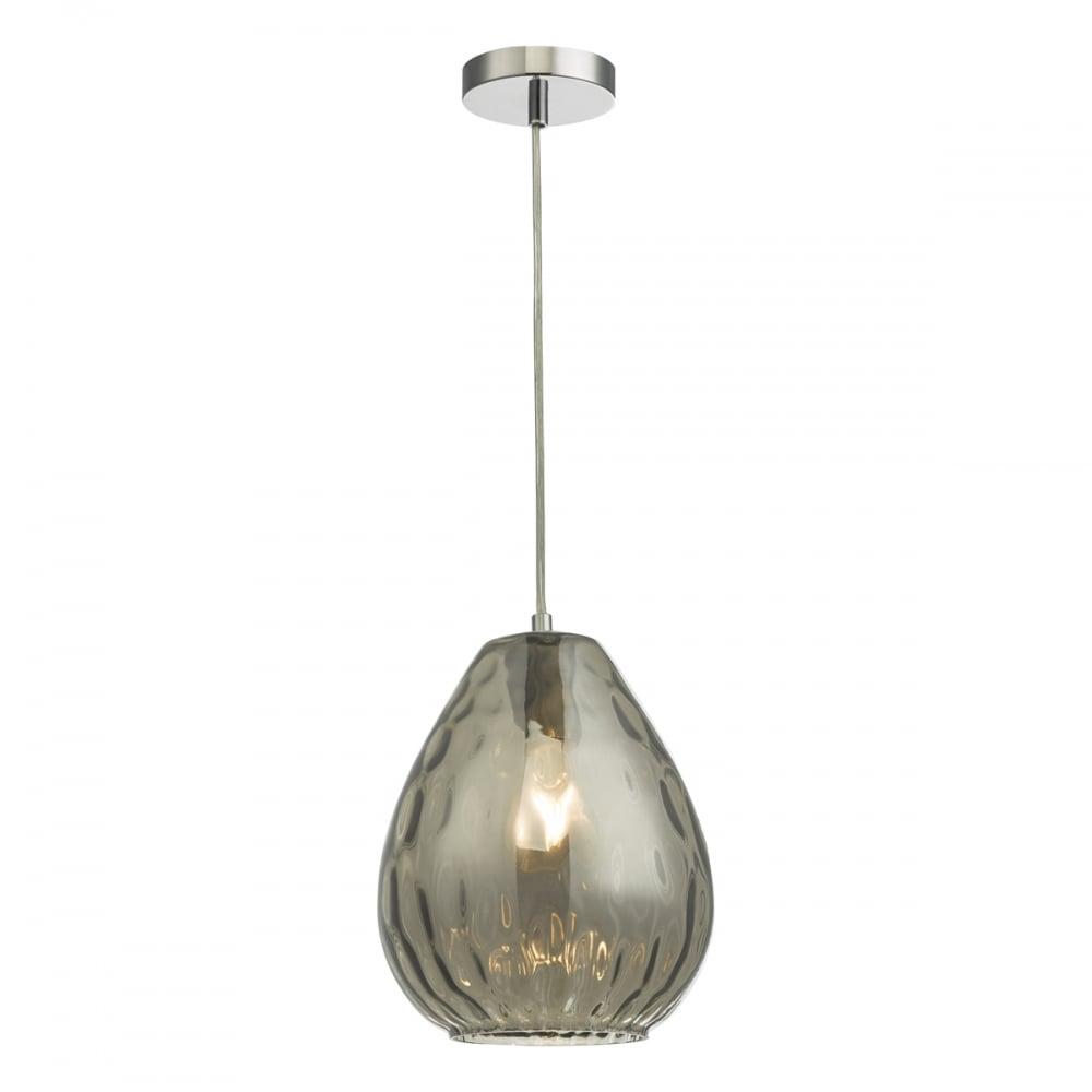 Apulia modern smoked glass single ceiling pendant