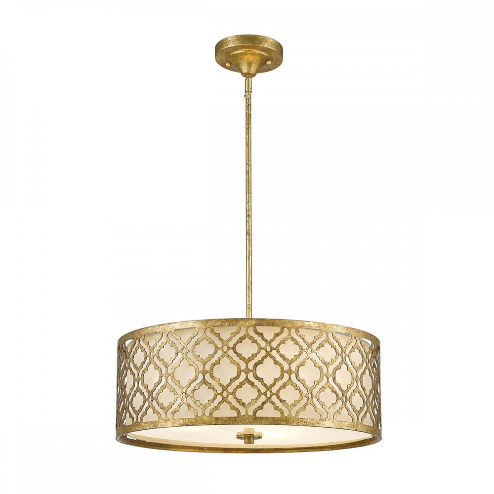 Distressed Gold Dual Mount Large Ceiling Light Lighting Company