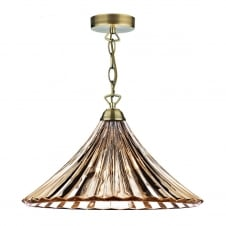 ARDECHE amber glass ceiling pendant light