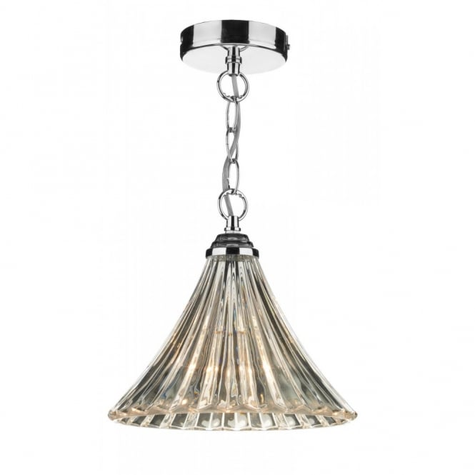 ARDECHE clear fluted glass single pendant