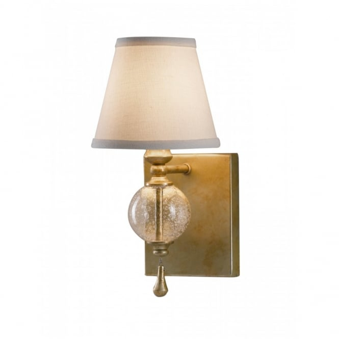 ARGENTO traditional wall light with ivory linen shade