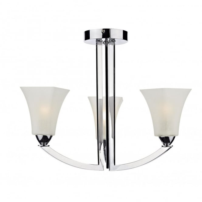 ARLINGTON modern chrome 3 arm ceiling light