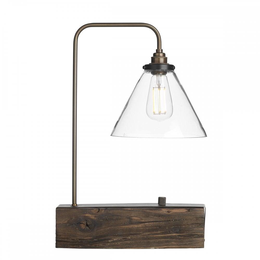 Aspen Table Lamp Wood Effect