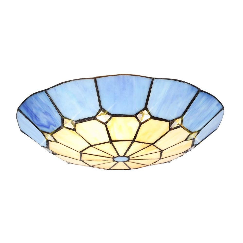 Uplighter Ceiling Shade Cream and Blue