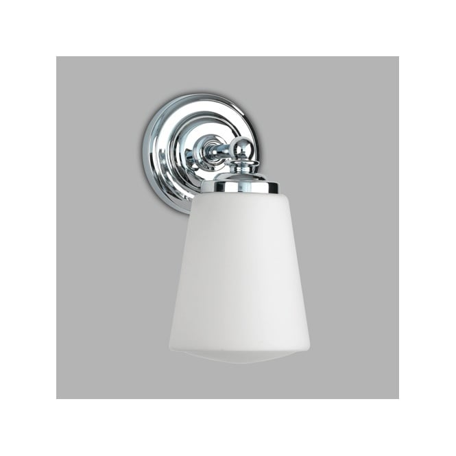 Astro ANTON polished chrome & opal glass bathroom wall light