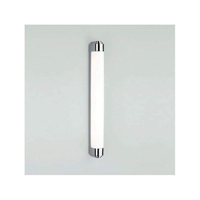 Polished chrome bathroom strip light with diffuser class 2 for Bathroom strip light