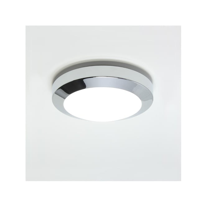 Chrome Flush Wall Lights : Modern Chrome Bathroom Light, Can be Mounted to Ceiling or Wall. IP44.