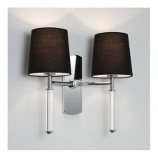 DELPHI twin chrome & clear modern wall light