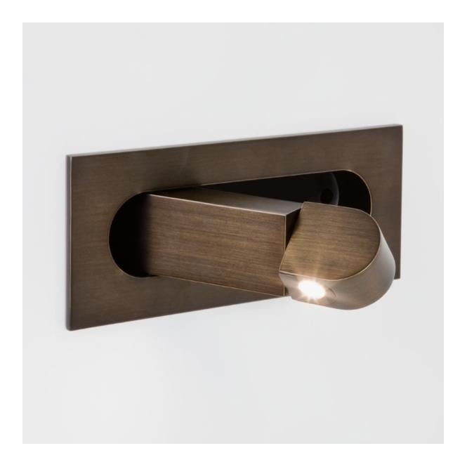 Astro DIGIT flush LED folding wall light (bronze)