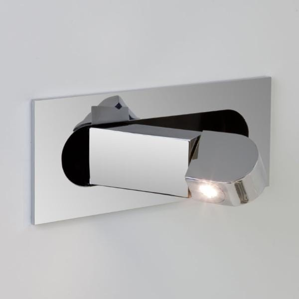 Modern Led Recessed Wall Light In A Chrome Finish Low Energy