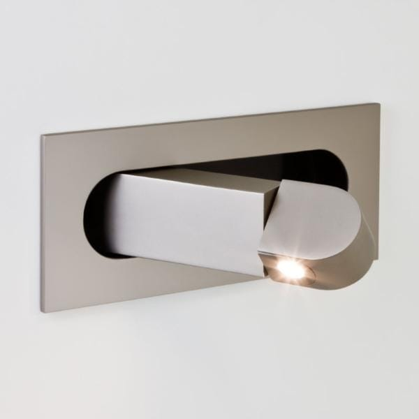 Modern led recessed wall light in matte nickel finish low energy digit flush led folding wall light matte nickel aloadofball Images