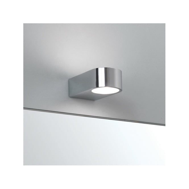 Modern Wall Light For Bathroom: Contemporary Bathroom Wall Light In Polished Chrome