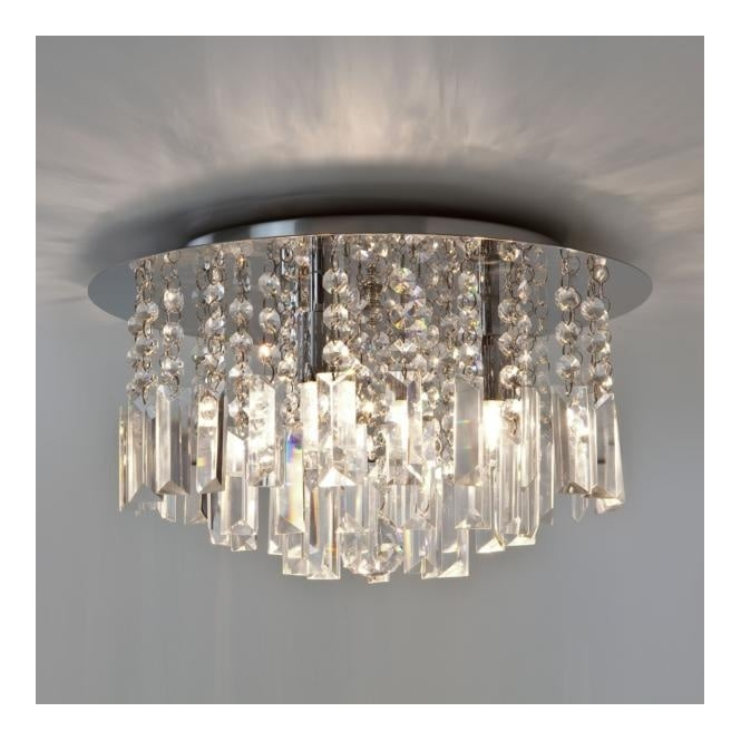Astro EVROS crystal glass bathroom ceiling light