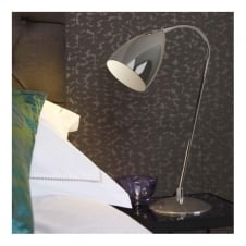 JOEL contemporary table lamp (chrome)