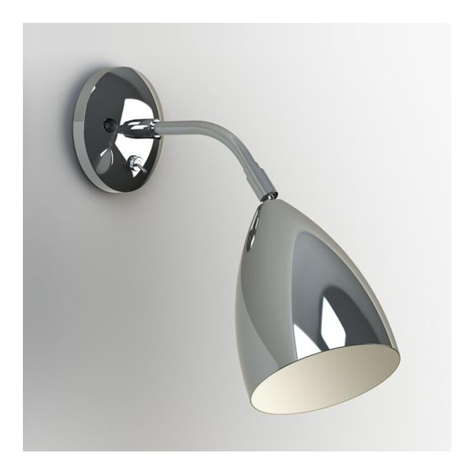 Modern Chrome Wall Light with Switch. Can be dimmable.