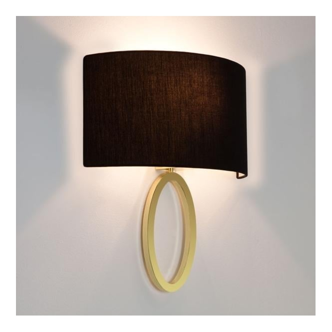 Astro LIMA contemporary flush ring wall light with shade (matte brass)