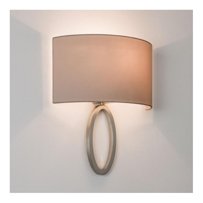 LIMA contemporary flush ring wall light with shade (matte nickel)