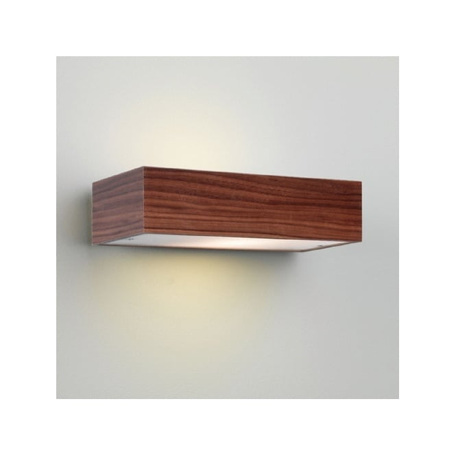 Rustic Wooden Wall Washer Light in Walnut Finish - Double Insulated
