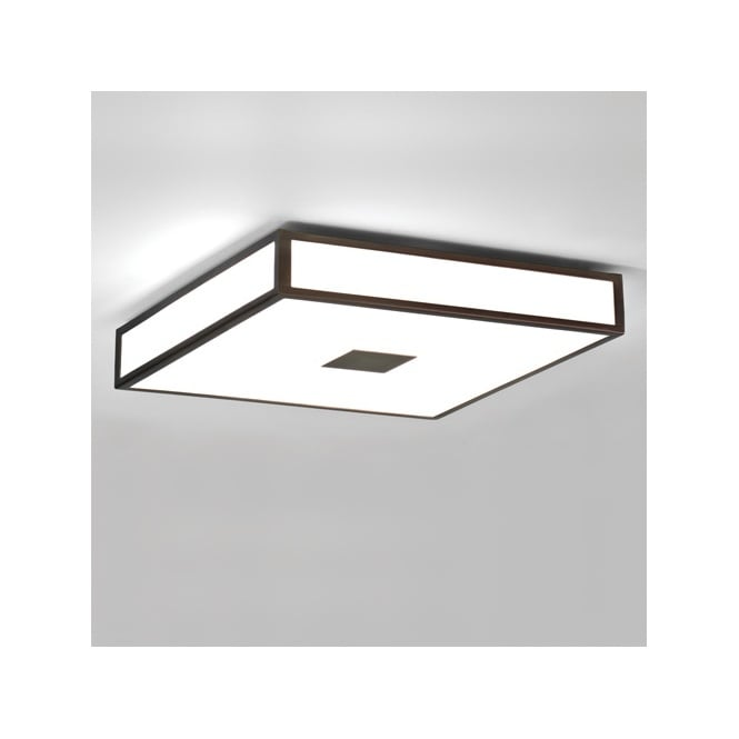 sc 1 st  The Lighting Company & Modern Bathroom Ceiling Light in Bronze with White Glass Shade. IP44. azcodes.com