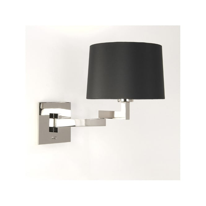 MOMO modern swing arm wall light with shade (chrome)
