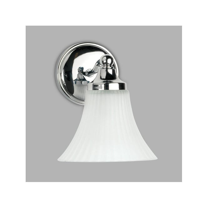 NENA decorative traditional design single bathroom wall light in chrome with opal shade