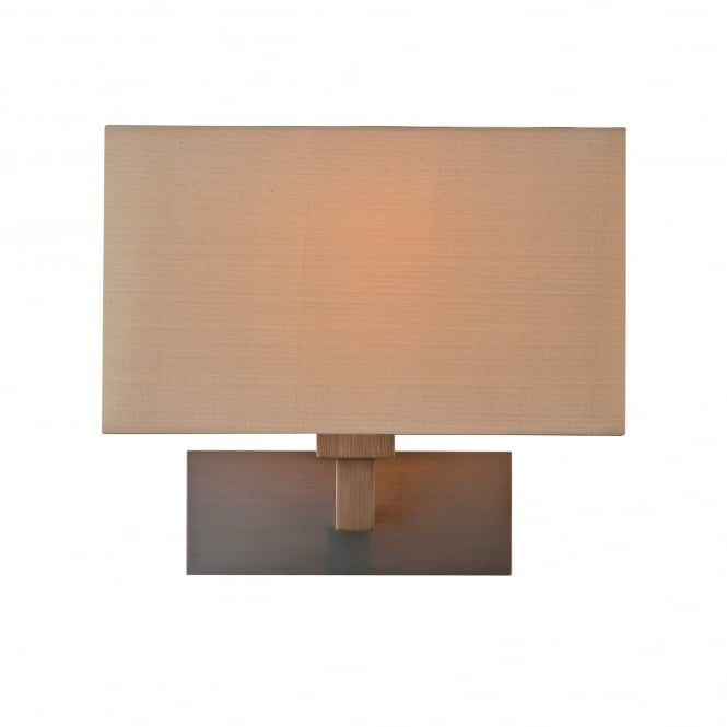 Astro PARK LANE GRANDE modern bronze hotel style wall light with oyster silk shade