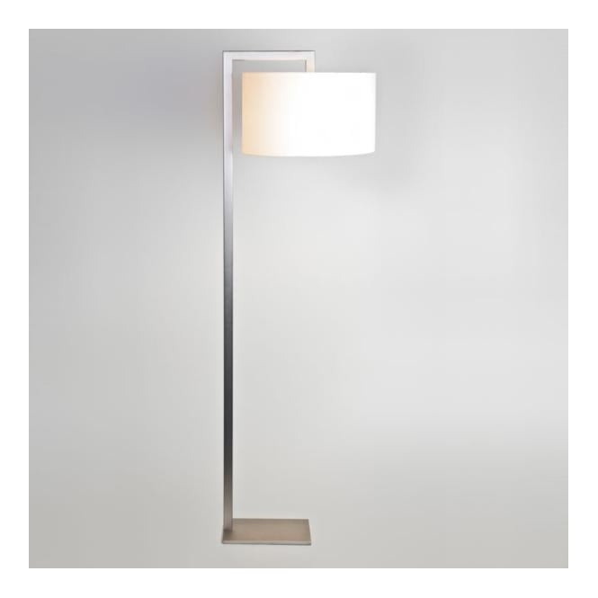 RAVELLO contemporary floor lamp with shade (matte nickel)